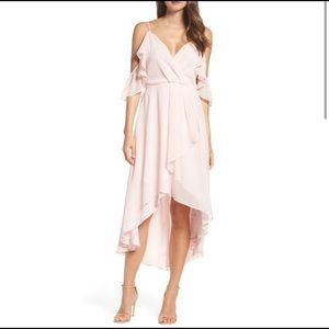 CHELSEA28 - Off the shoulders light pink dress